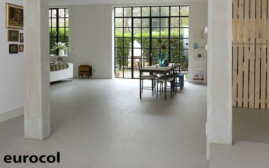 Vloer En Wand Met Basic Beton Uitstraling